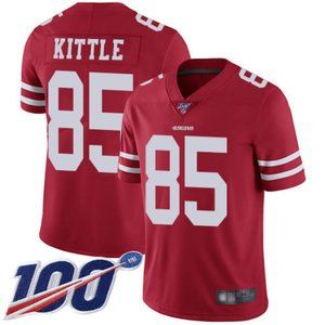 Mens 49ers George Kittle 100th Season Jersey